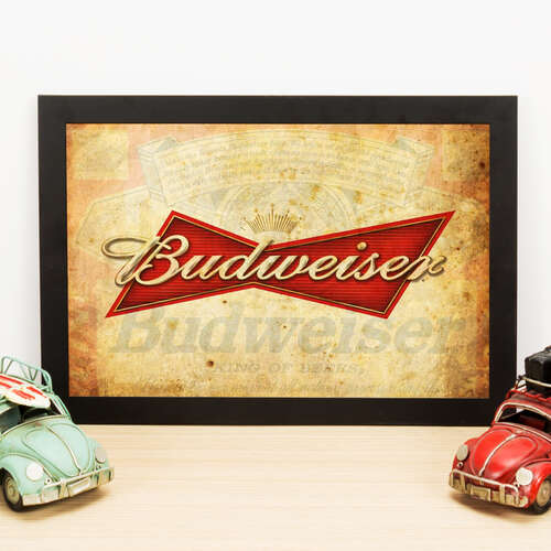 Quadro Budweiser King of the Beers - 33x22 cm