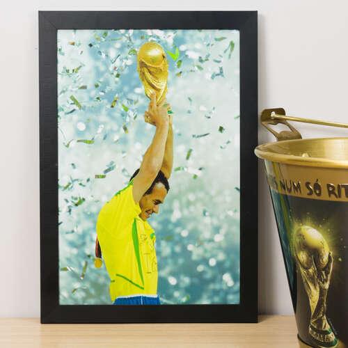 Quadro Cafu Final Copa 2002 - 33x22 cm