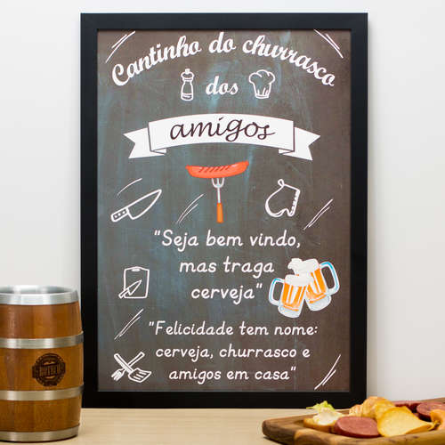 Quadro Cantinho dos Amigos - 45x33 cm