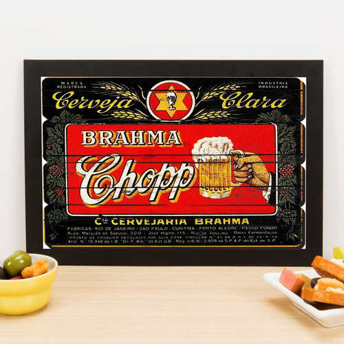 Quadro Brahma Chopp - 22x33 cm