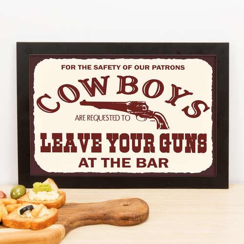 Quadro Cowboys - 22x33 cm