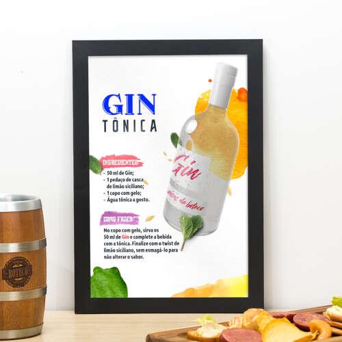 Quadro Gin + Tônica - 33x22 cm