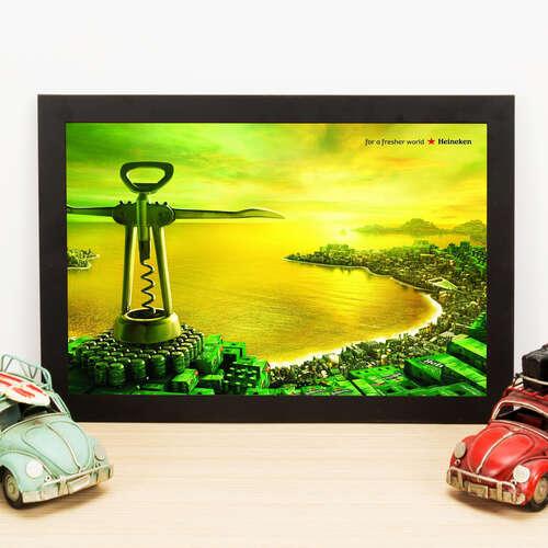 Quadro Heineken For a fresher world - 33x22 cm