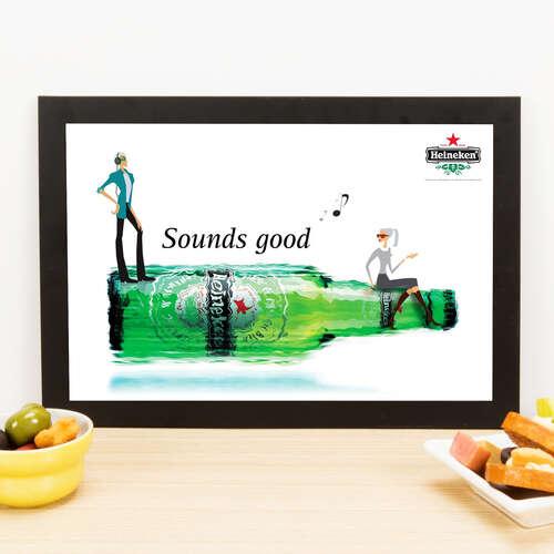 Quadro Heineken Sounds Good - 33x22 cm