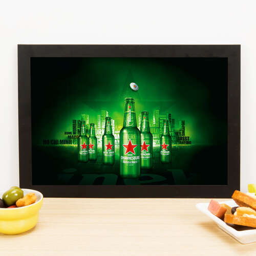 Quadro World Heineken - 33x22 cm