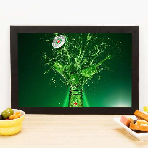 Quadro Heineken Explosion  -  33x22 cm