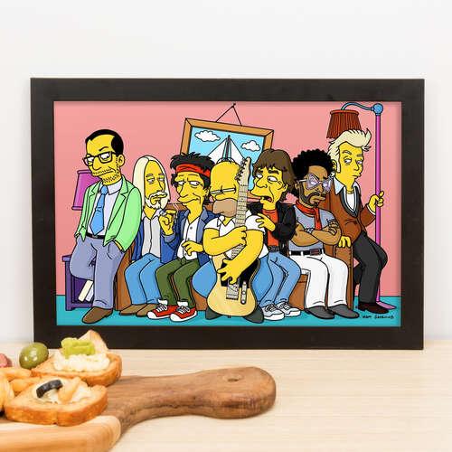 Quadro Homer Simpson & Friends - 23x33 cm