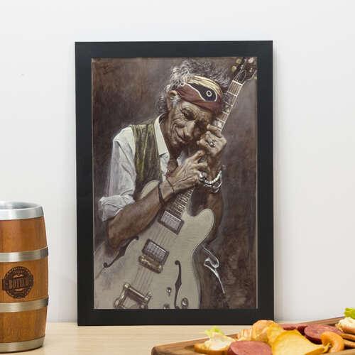 Quadro Keith Richards - 33x23 cm