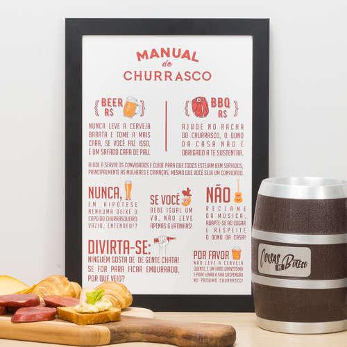 Quadro Manual do Churrasco - 33x22 cm