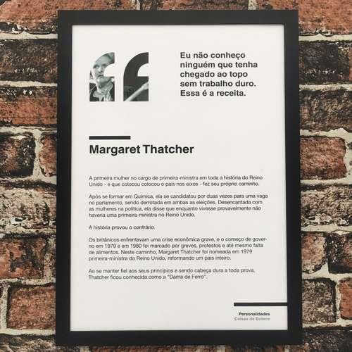 Quadro Margaret Thatcher - 45x32,5 cm