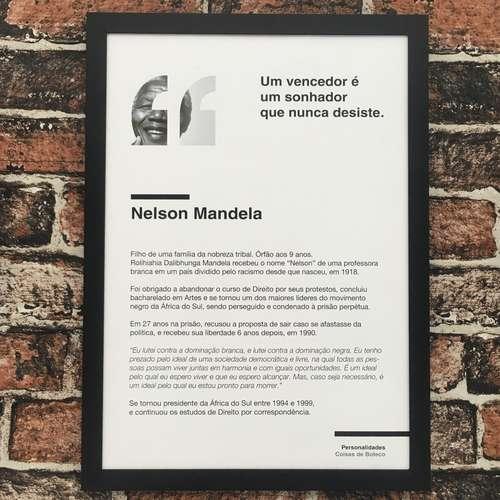 Quadro Nelson Mandela - 45x32,5 cm