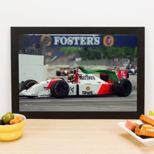 Quadro Ayrton Senna do Brasil -  22x33 cm