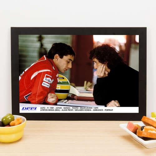 Quadro Senna e Prost Fórmula 1 - 22x33 cm