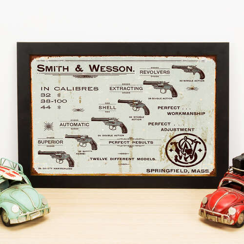 Quadro Smith & Wesson - 22x33 cm
