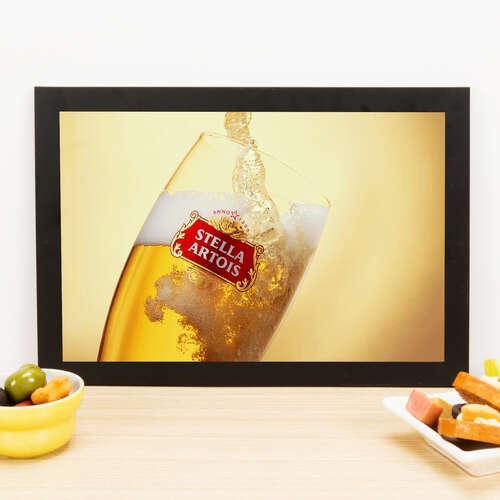 Quadro Stella Artois Drop - 33x22 cm