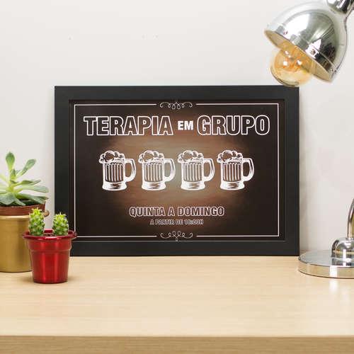 Quadro Terapia em Grupo - 22x33 cm