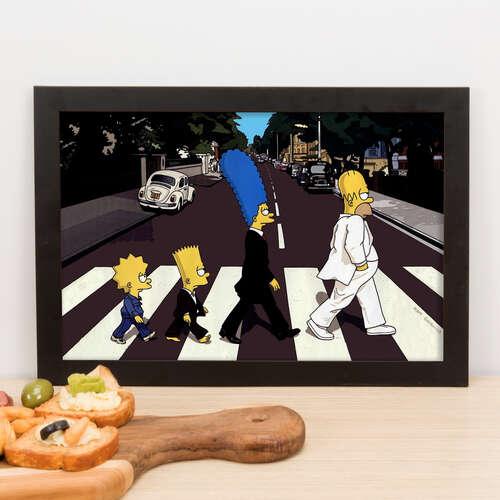 Quadro The Simpsons Abbey Road - 23x33 cm