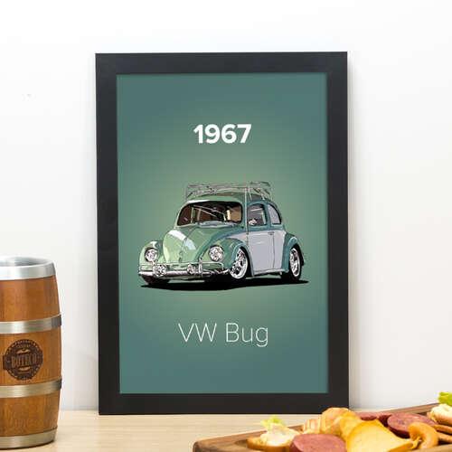 Quadro VW Bug 1967 - 33x22 cm