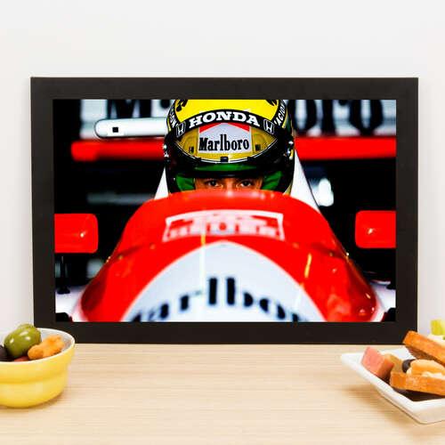 Quadro Ayrton Senna Vision Car - 22x33 cm