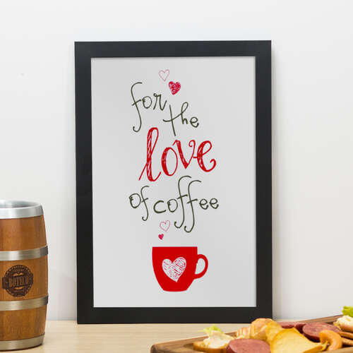 Quadro - Amor pelo Café - 33x22 cm