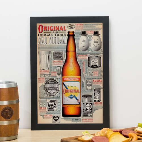 Quadro - Antarctica Original - 33x22 cm