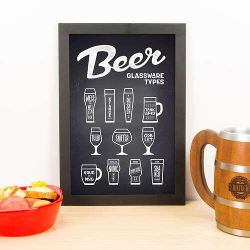 Quadro - Beer Glassware - 33x23 cm