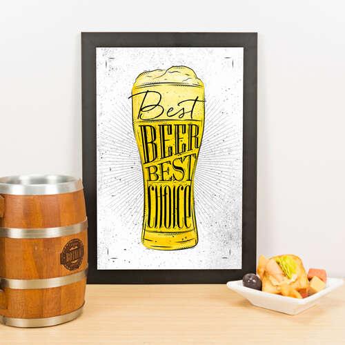 Quadro - Best Beer Best Choice - 33x23 cm