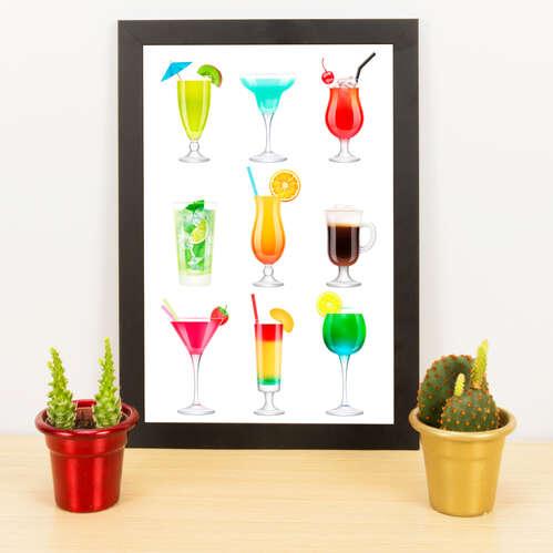 Quadro - Cocktails - 33x23 cm