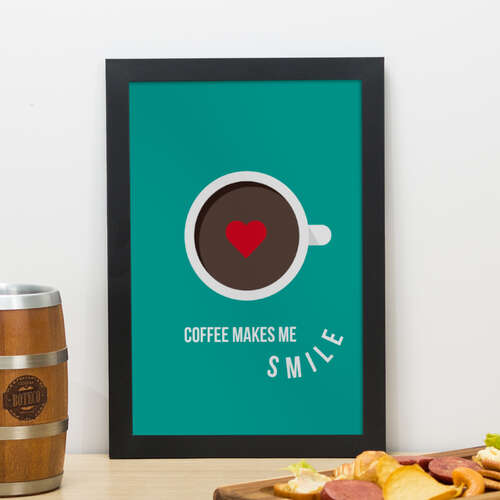Quadro - Coffee Smile - 33x22 cm