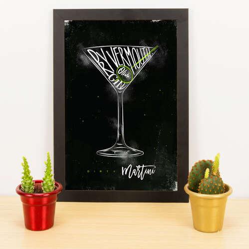Quadro - Dirty Martini - 33x23 cm