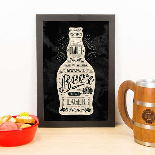 Quadro - Estilos de Cervejas - 33x23 cm