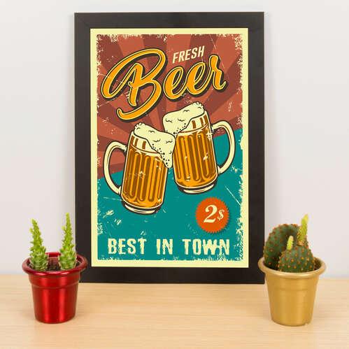 Quadro - Fresh Beer -  33x23 cm