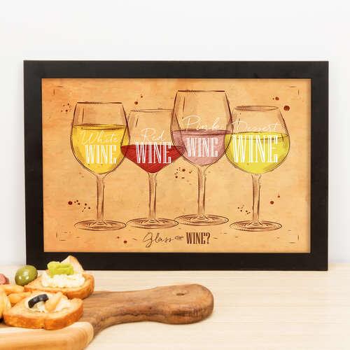 Quadro - Glass of Wine - 23x33 cm (Nude)