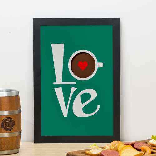 Quadro - Love Coffee - 33x22 cm