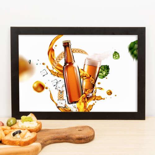 Quadro - Lúpulo e Cerveja - 23x33 cm