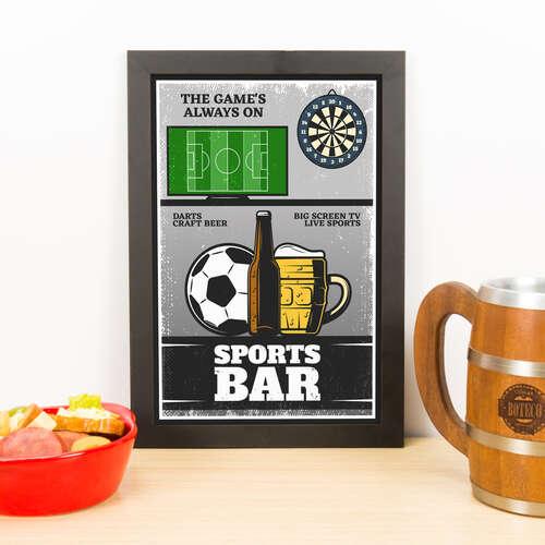 Quadro - Sports Bar - 33x23 cm