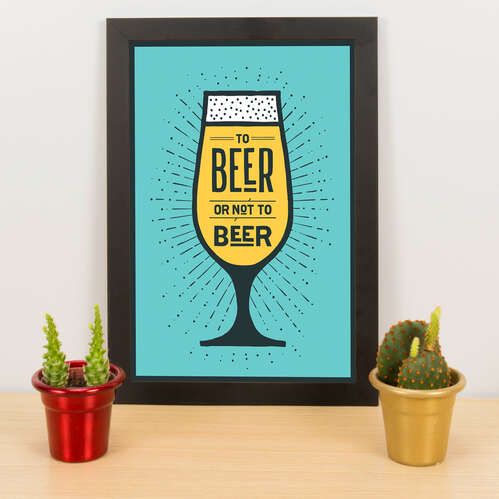 Quadro - To beer or not to beer - Verde - 33x23 cm