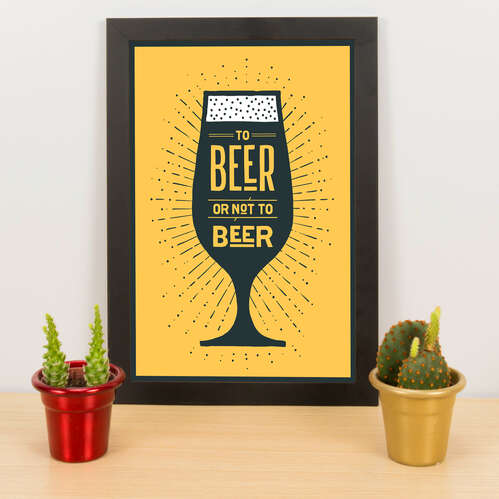 Quadro - To beer or not to beer -  33x23 cm