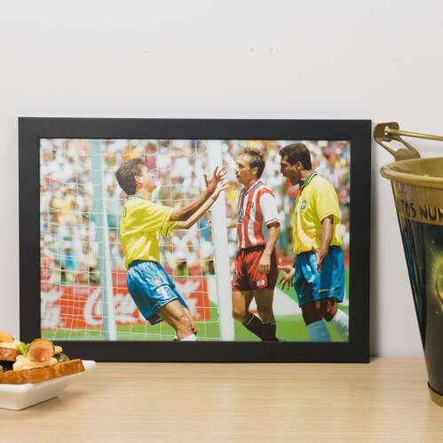 Quadro Bebeto e Romário Copa 1994  - 22x33 cm