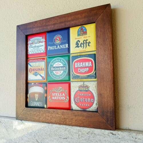 Quadro de Azulejos - Cervejas - 28 x 28 cm