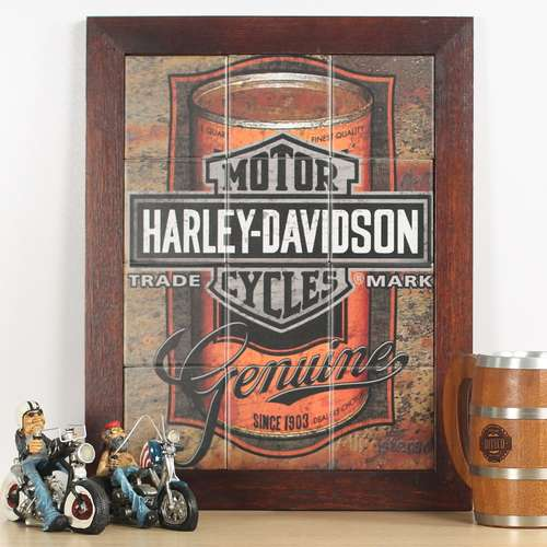 Quadro de Azulejos - Harley Davidson - 47 x 37 cm